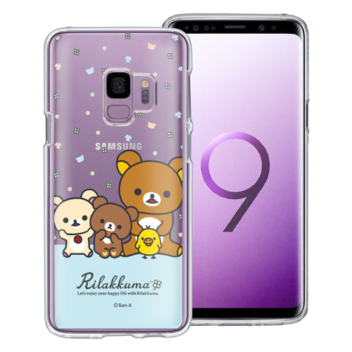Galaxy S9 Case (5.8inch) Rilakkuma Clear TPU Cute Soft Jelly Cover - Rilakkuma Friends