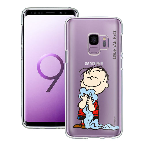 Galaxy S9 Case (5.8inch) PEANUTS Clear TPU Cute Soft Jelly Cover - Smile Linus