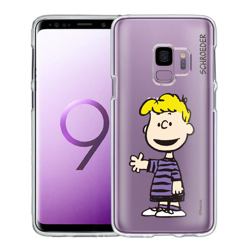 Galaxy S9 Case (5.8inch) PEANUTS Clear TPU Cute Soft Jelly Cover - Smile Schroeder