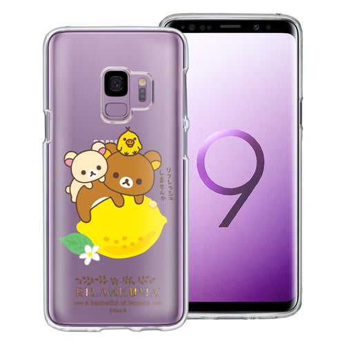 Galaxy S9 Case (5.8inch) Rilakkuma Clear TPU Cute Soft Jelly Cover - Rilakkuma Lemon
