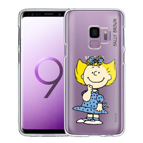 Galaxy S9 Case (5.8inch) PEANUTS Clear TPU Cute Soft Jelly Cover - Smile Sally