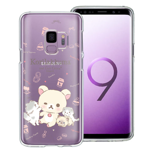 Galaxy S9 Case (5.8inch) Rilakkuma Clear TPU Cute Soft Jelly Cover - Korilakkuma Cat