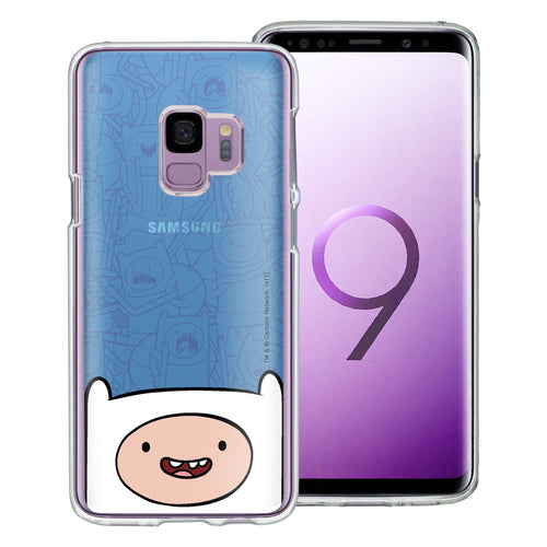 Galaxy S9 Plus Case Adventure Time Clear TPU Cute Soft Jelly Cover - Pattern Finn Big