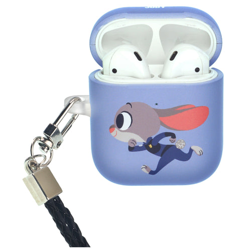 Disney AirPods Case Neck Lanyard Protective Hard PC Shell Strap Hole Cover - Zootopia Judy