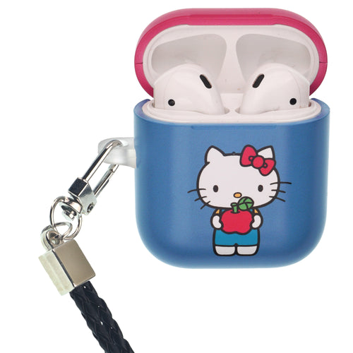 Sanrio AirPods Case Neck Lanyard Protective Hard PC Shell Strap Hole Cover - Hello Kitty Stand Apple