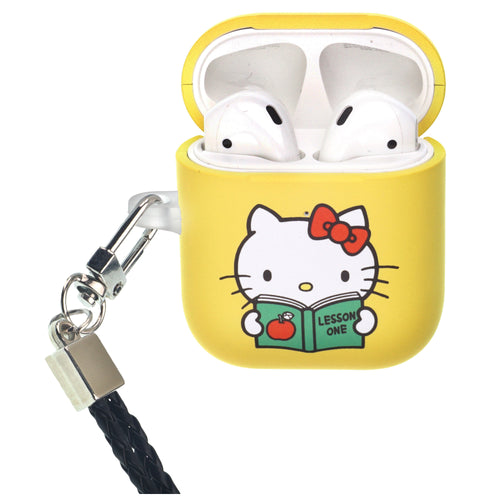 Sanrio AirPods Case Neck Lanyard Protective Hard PC Shell Strap Hole Cover - Hello Kitty Book