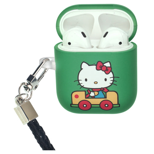 Sanrio AirPods Case Neck Lanyard Protective Hard PC Shell Strap Hole Cover - Hello Kitty Car