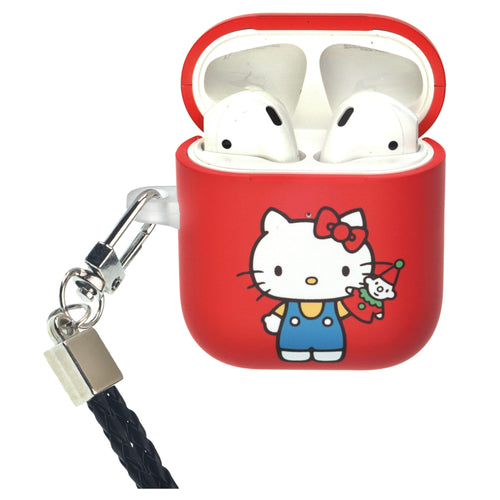 Sanrio AirPods Case Neck Lanyard Protective Hard PC Shell Strap Hole Cover - Hello Kitty Doll