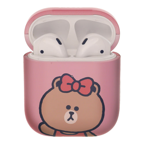 Line Friends AirPods Case Protective Hard PC Shell Cute Cover - Greeting Choco