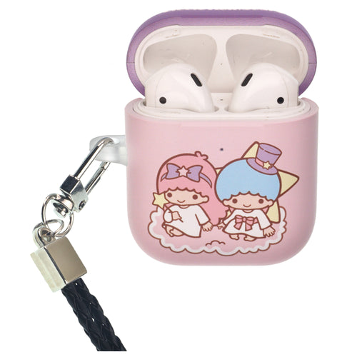 Sanrio AirPods Case Neck Lanyard Protective Hard PC Shell Strap Hole Cover - Little Twin Stars