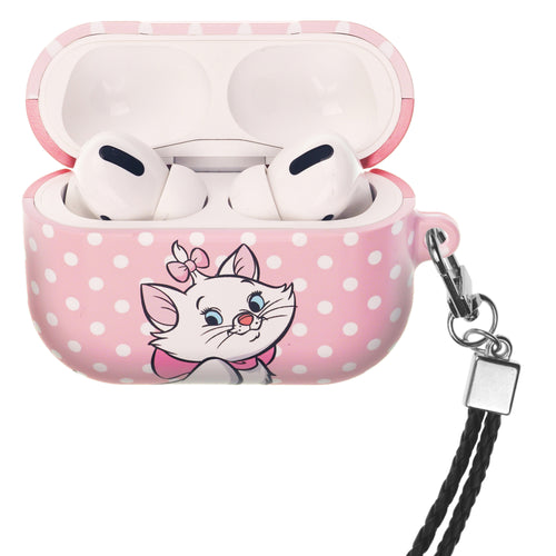 Disney The AristoCats AirPods Pro Case Neck Lanyard Hard PC Shell Strap Hole Cover - Marie Spot Baby Pink