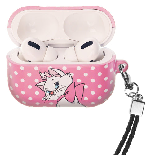 Disney The AristoCats AirPods Pro Case Neck Lanyard Hard PC Shell Strap Hole Cover - Marie Spot Hot Pink