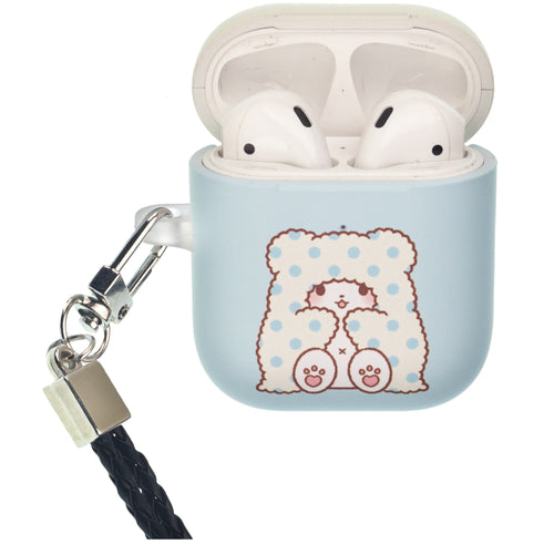 Sanrio AirPods Case Neck Lanyard Protective Hard PC Shell Strap Hole Cover - Marumofubiyori