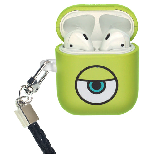 Disney AirPods Case Neck Lanyard Protective Hard PC Shell Strap Hole Cover - Monsters Eye Mike