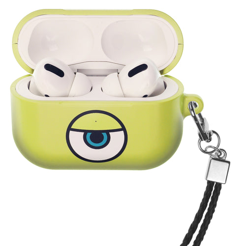 Disney AirPods Pro Case Neck Lanyard Hard PC Shell Strap Hole Cover - Monsters Eye Mike