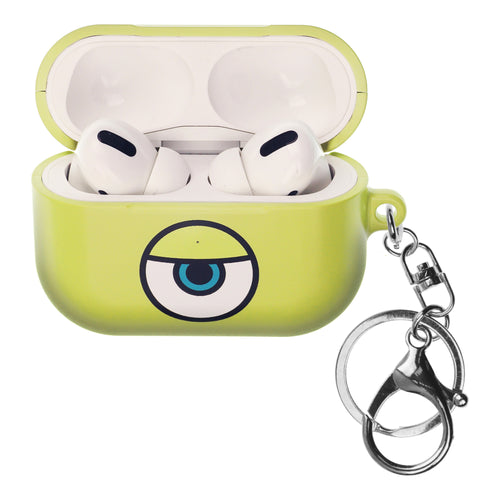 Disney AirPods Pro Case Key Ring Keychain Key Holder Hard PC Shell Strap Hole Cover - Monsters Eye Mike