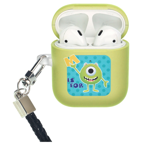 Disney AirPods Case Neck Lanyard Protective Hard PC Shell Strap Hole Cover - Monsters Mike