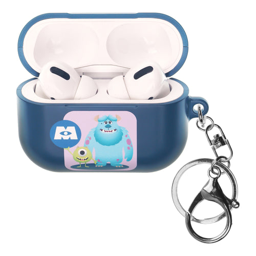 Disney AirPods Pro Case Key Ring Keychain Key Holder Hard PC Shell Strap Hole Cover - Monsters Mike and Sulley