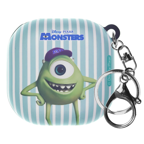 Monsters, Inc., Galaxy Buds Live Case (2020) Key Ring Keychain Key Holder Hard PC Shell Cover - Movie Mike