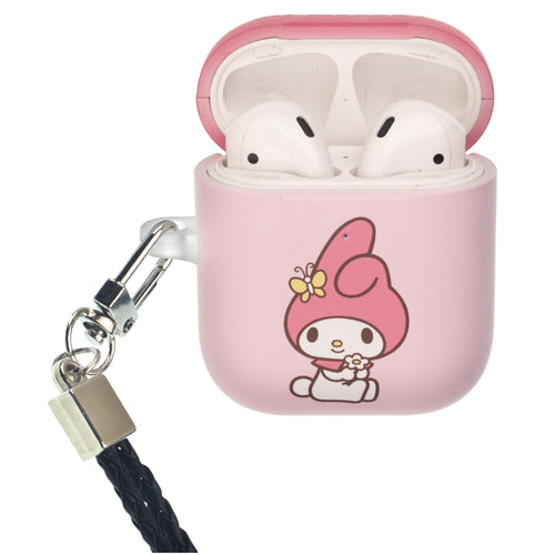 Sanrio AirPods Case Neck Lanyard Protective Hard PC Shell Strap Hole Cover - My Melody