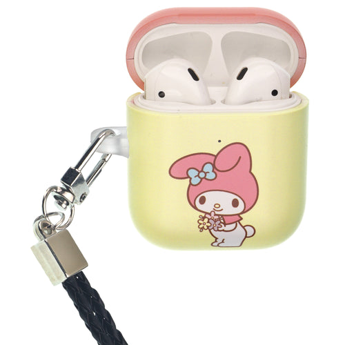 Sanrio AirPods Case Neck Lanyard Protective Hard PC Shell Strap Hole Cover - My Melody Bouquet