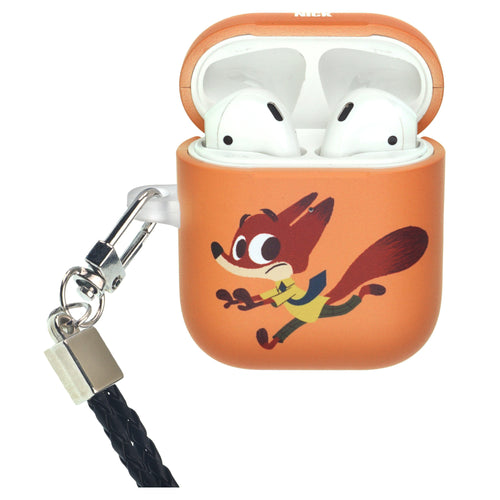 Disney AirPods Case Neck Lanyard Protective Hard PC Shell Strap Hole Cover - Zootopia Nick Fury