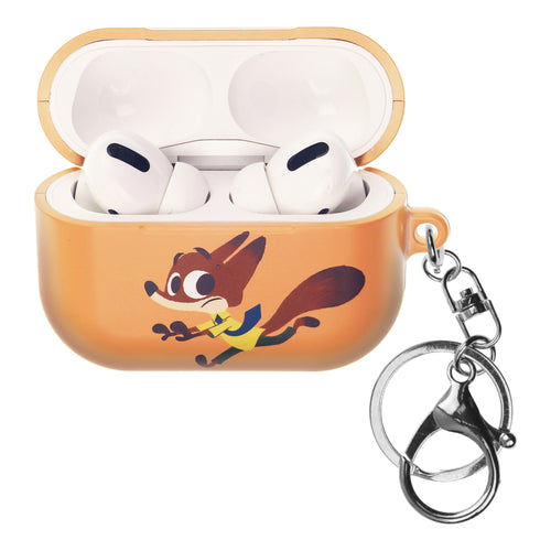 Disney AirPods Pro Case Key Ring Keychain Key Holder Hard PC Shell Strap Hole Cover - Zootopia Nick Fury