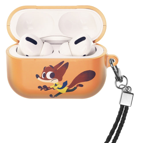 Disney AirPods Pro Case Neck Lanyard Hard PC Shell Strap Hole Cover - Zootopia Nick Fury