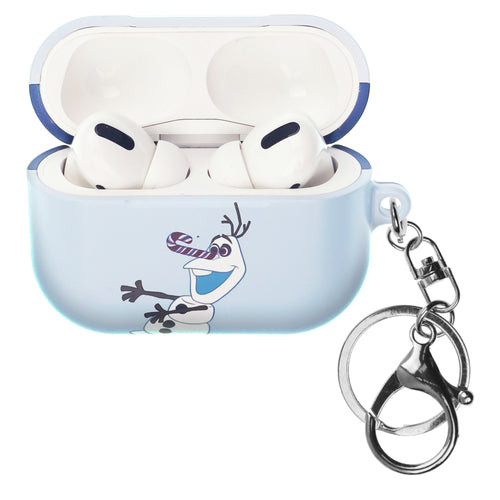 Disney Frozen AirPods Pro Case Key Ring Keychain Key Holder Hard PC Shell Strap Hole Cover - Olaf Cane