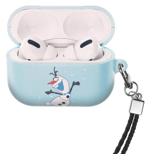 Disney Frozen AirPods Pro Case Neck Lanyard Hard PC Shell Strap Hole Cover - Olaf Dance