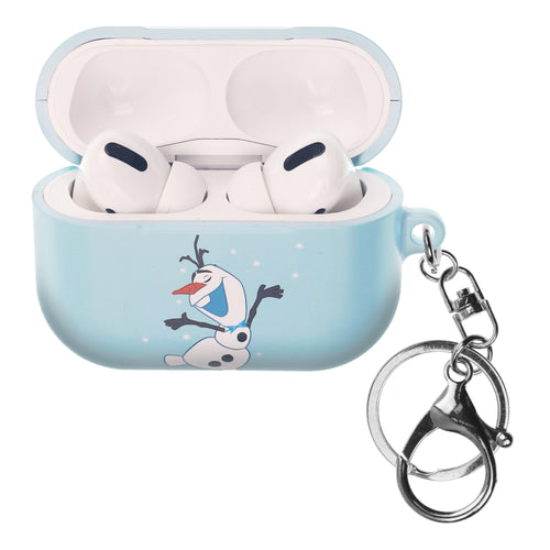 Disney Frozen AirPods Pro Case Key Ring Keychain Key Holder Hard PC Shell Strap Hole Cover - Olaf Dance