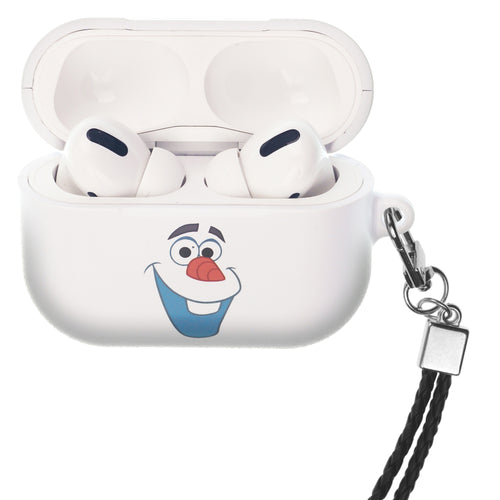 Disney Frozen AirPods Pro Case Neck Lanyard Hard PC Shell Strap Hole Cover - Olaf Face