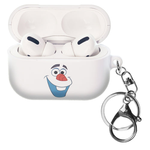 Disney Frozen AirPods Pro Case Key Ring Keychain Key Holder Hard PC Shell Strap Hole Cover - Olaf Face