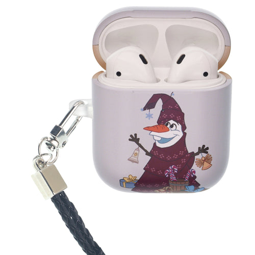 Disney Frozen AirPods Case Neck Lanyard Protective Hard PC Shell Strap Hole Cover - Olaf Tree