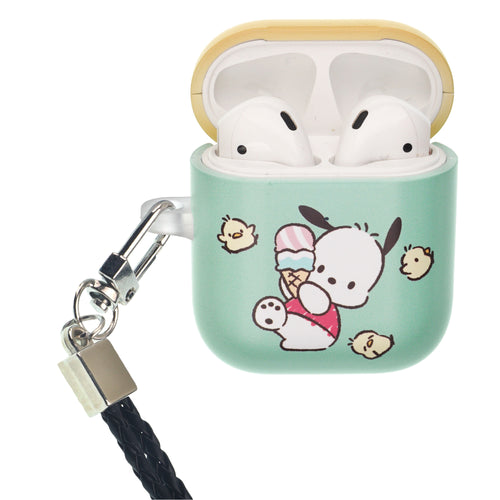 Sanrio AirPods Case Neck Lanyard Protective Hard PC Shell Strap Hole Cover - Pochacco Slip