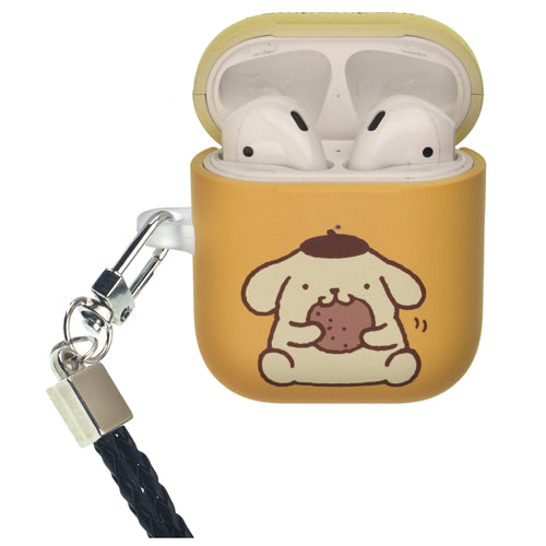 Sanrio AirPods Case Neck Lanyard Protective Hard PC Shell Strap Hole Cover - Pompompurin