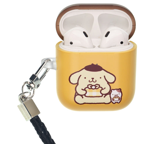 Sanrio AirPods Case Neck Lanyard Protective Hard PC Shell Strap Hole Cover - Pompompurin Gift