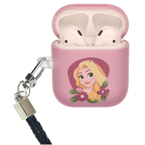 Disney Princess AirPods Case Neck Lanyard Protective Hard PC Shell Strap Hole Cover - Rapunzel