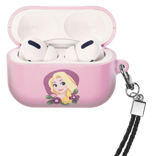 Disney Princess AirPods Pro Case Neck Lanyard Hard PC Shell Strap Hole Cover - Rapunzel