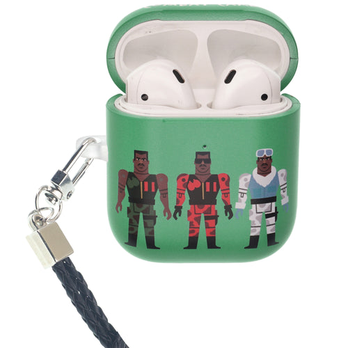 Toy Story 4 AirPods Case Neck Lanyard Protective Hard PC Shell Strap Hole Cover - Simple Combat Carl