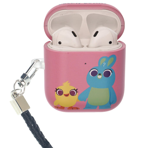 Toy Story 4 AirPods Case Neck Lanyard Protective Hard PC Shell Strap Hole Cover - Simple Ducky Bunny