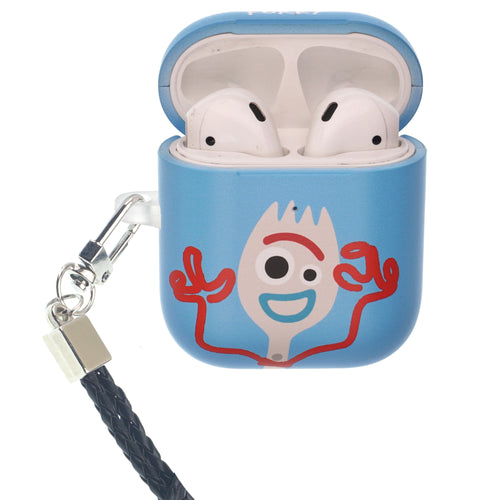 Toy Story 4 AirPods Case Neck Lanyard Protective Hard PC Shell Strap Hole Cover - Simple Forky