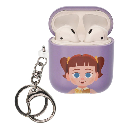 Toy Story 4 AirPods Case Key Ring Keychain Key Holder Hard PC Shell Strap Hole Cover [Front LED Visible] - Simple Gabby Gabby