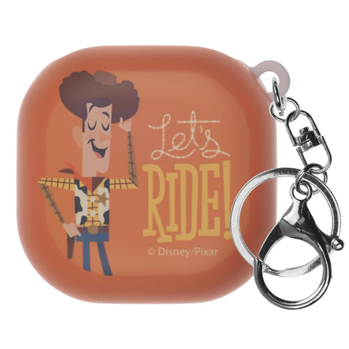 Toy Story Galaxy Buds Live Case (2020) Key Ring Keychain Key Holder Hard PC Shell Cover - Simple Woody