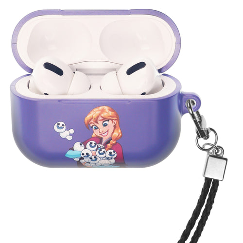 Disney Frozen AirPods Pro Case Neck Lanyard Hard PC Shell Strap Hole Cover - Snow Anna