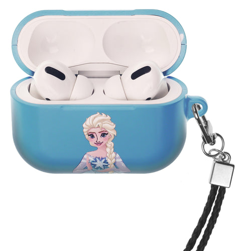 Disney Frozen AirPods Pro Case Neck Lanyard Hard PC Shell Strap Hole Cover - Snow Elsa