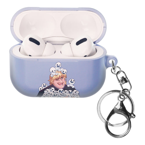 Disney Frozen AirPods Pro Case Key Ring Keychain Key Holder Hard PC Shell Strap Hole Cover - Snow Kristoff