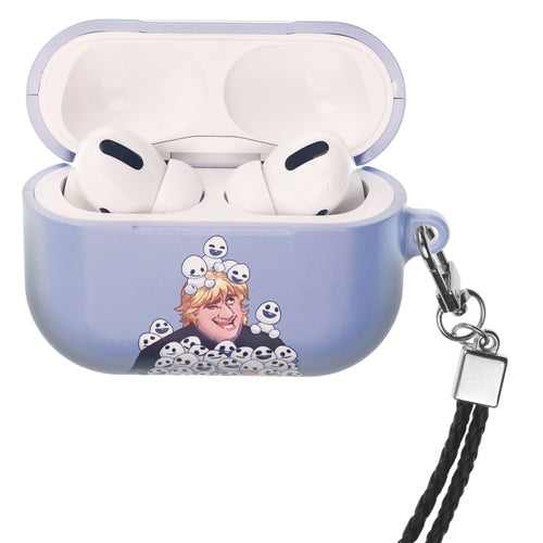 Disney Frozen AirPods Pro Case Neck Lanyard Hard PC Shell Strap Hole Cover - Snow Kristoff