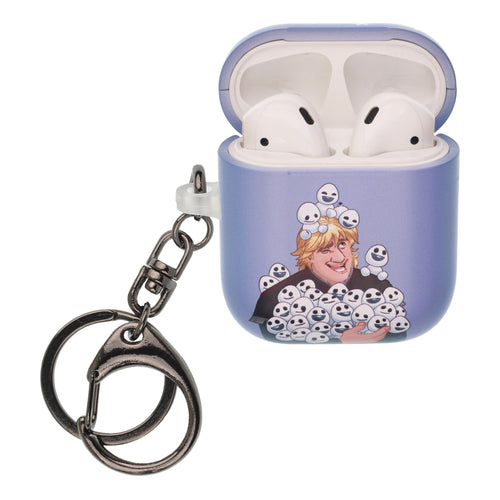 Disney Frozen AirPods Case Key Ring Keychain Key Holder Hard PC Shell Strap Hole Cover [Front LED Visible] - Snow Kristoff