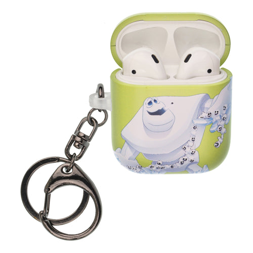 Disney Frozen AirPods Case Key Ring Keychain Key Holder Hard PC Shell Strap Hole Cover [Front LED Visible] - Snow Marshmallow